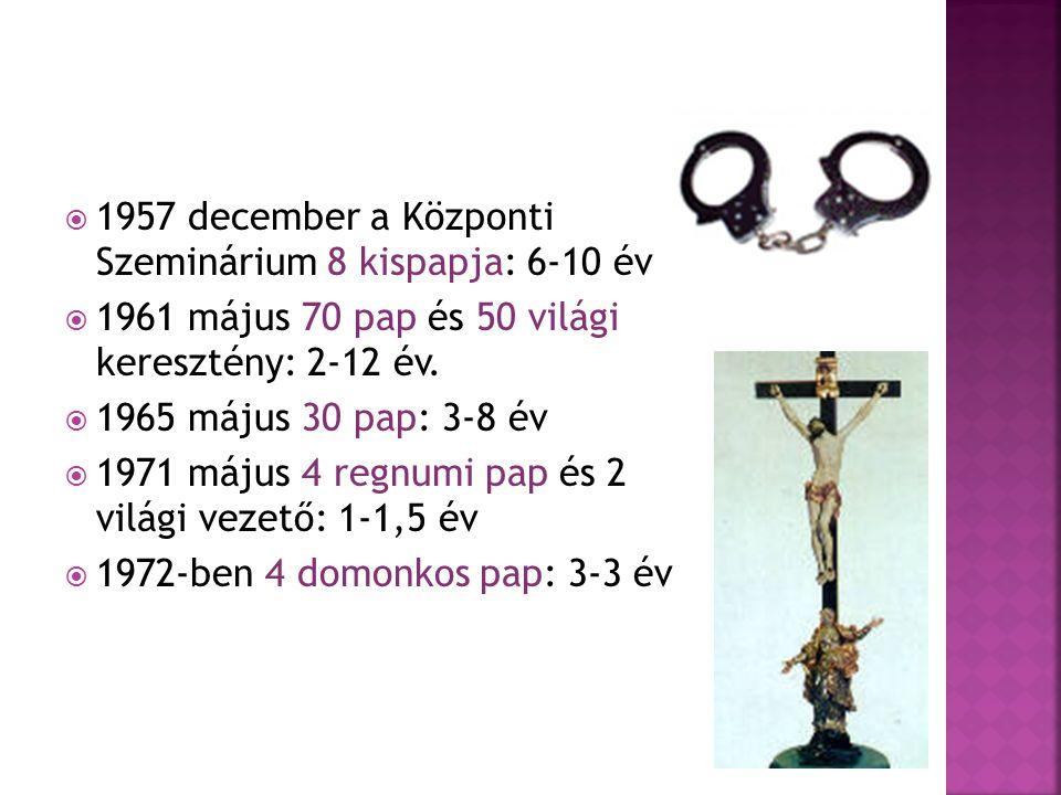 1957 december a Központi Szeminárium 8 kispapja: 6-10 év