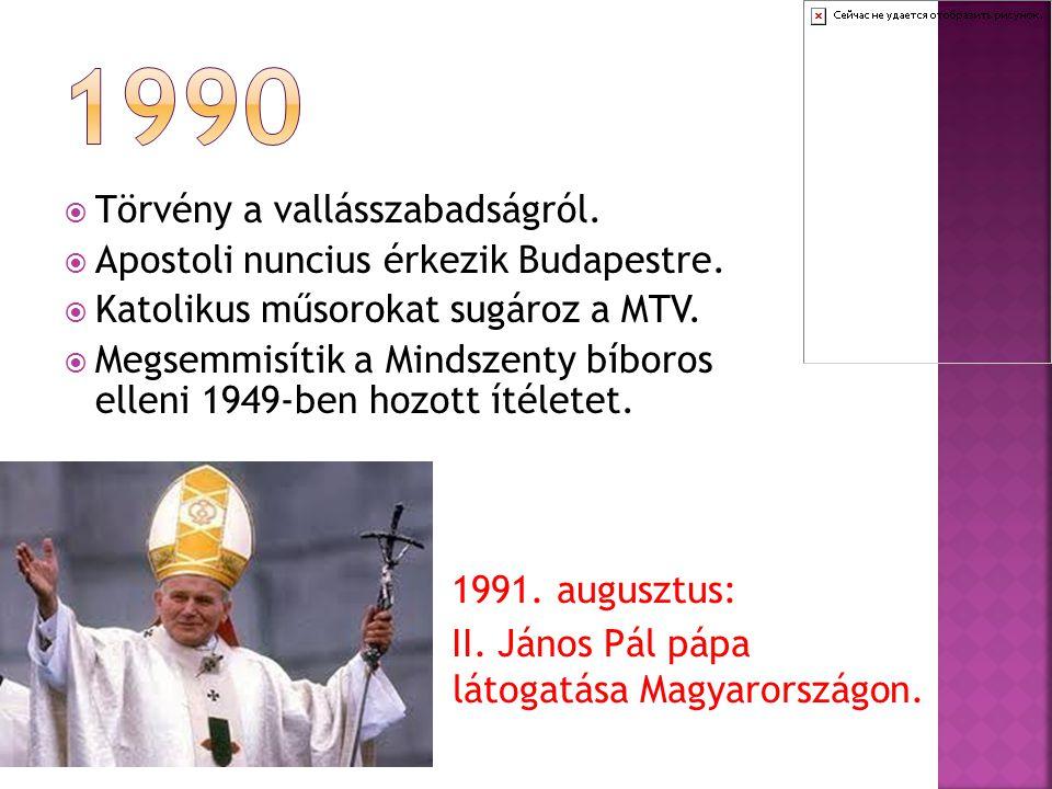 1990 Törvény a vallásszabadságról.