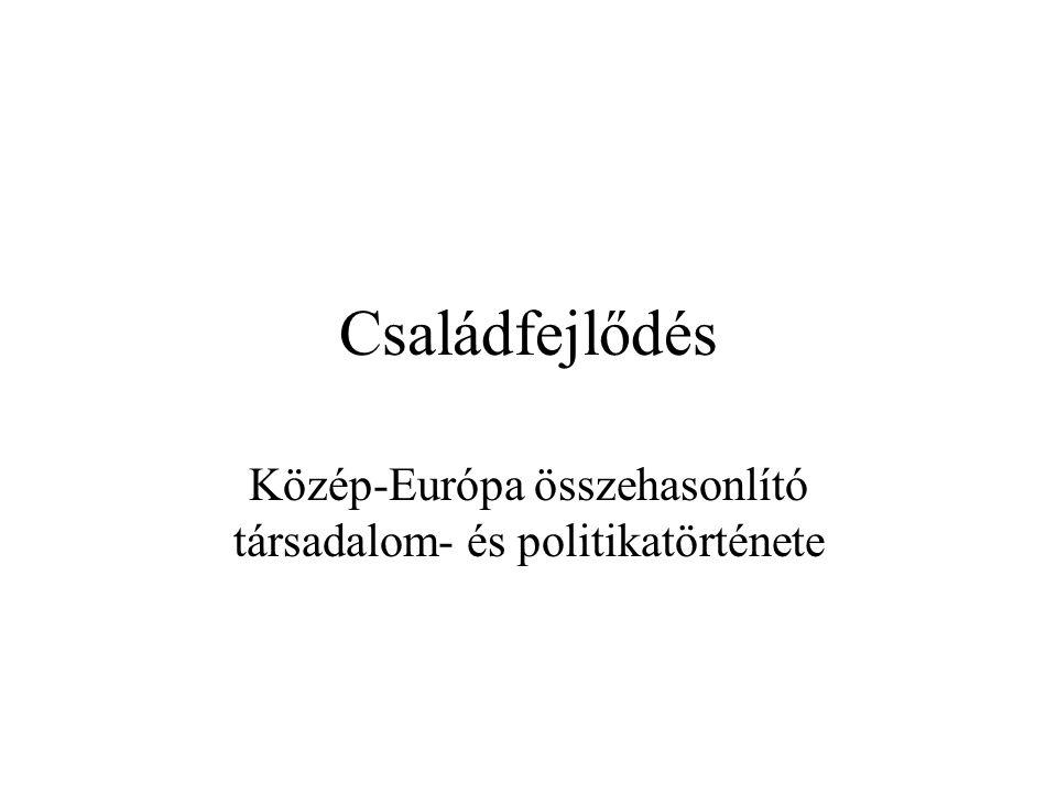 Közép-Európa összehasonlító társadalom- és politikatörténete