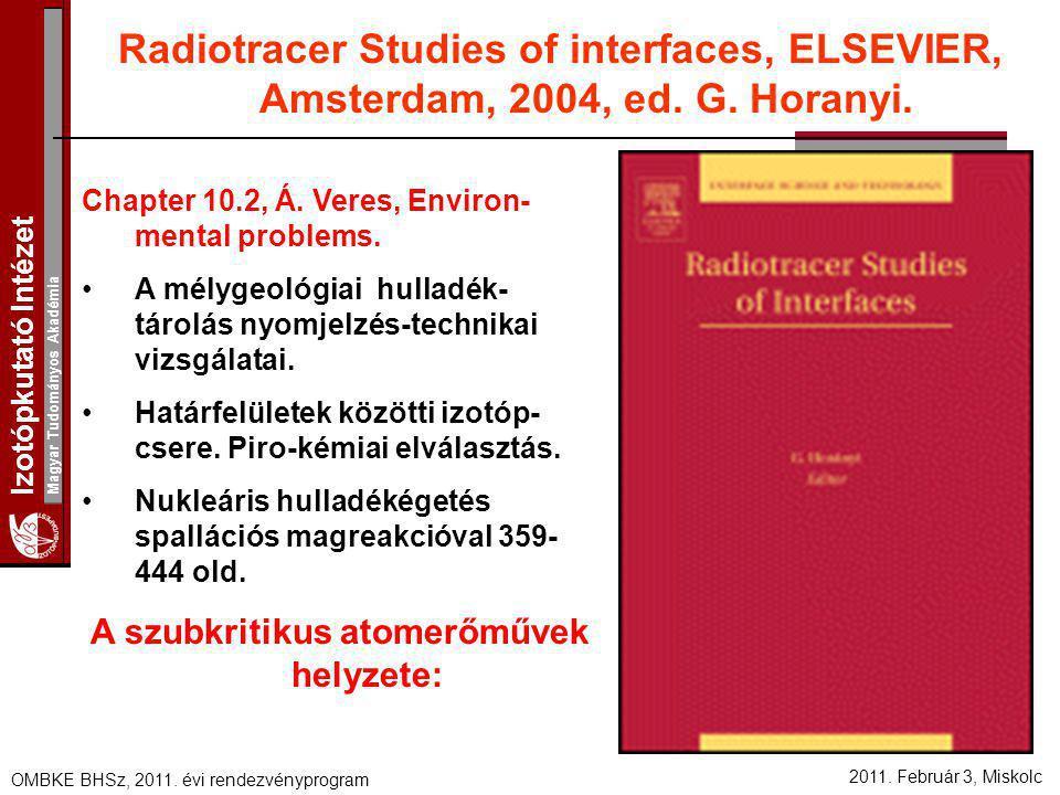 A szubkritikus atomerőművek helyzete: