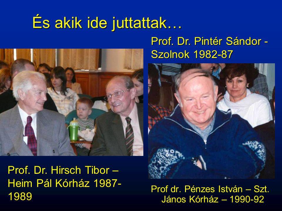 És akik ide juttattak… Prof. Dr. Pintér Sándor -Szolnok 1982-87