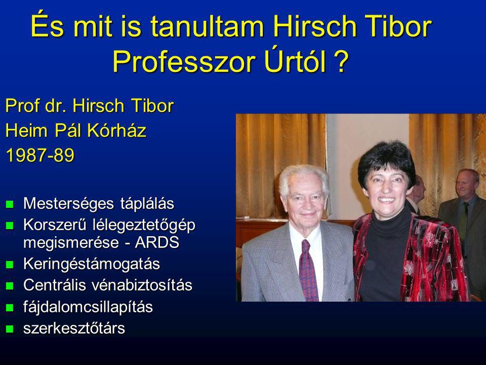 És mit is tanultam Hirsch Tibor Professzor Úrtól