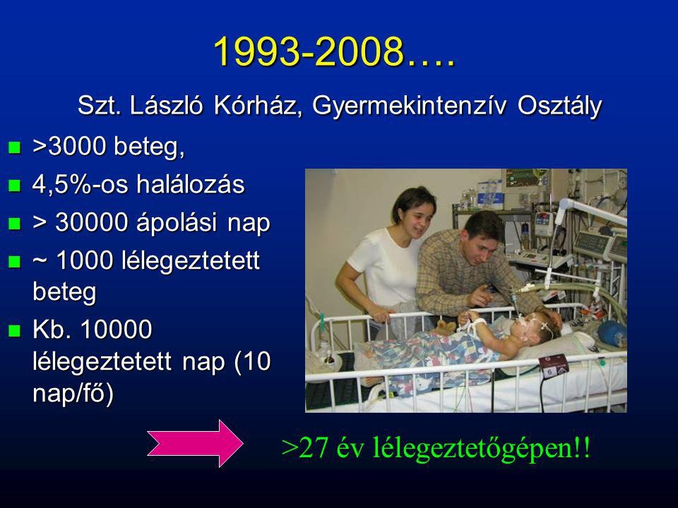 1993-2008…. Szt. László Kórház, Gyermekintenzív Osztály