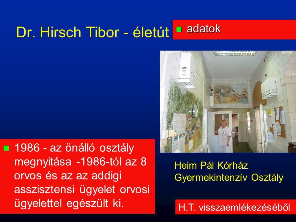 Dr. Hirsch Tibor - életút