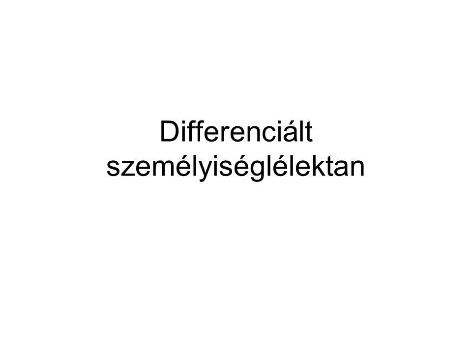 Differenciált személyiséglélektan