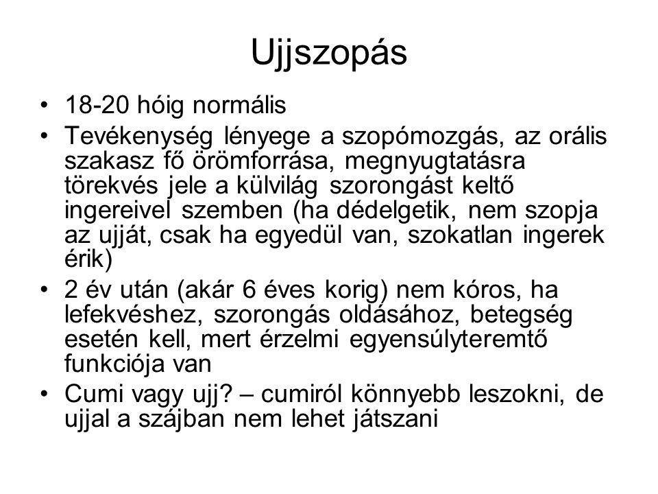 Ujjszopás 18-20 hóig normális