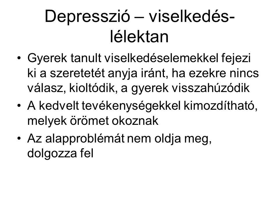 Depresszió – viselkedés-lélektan