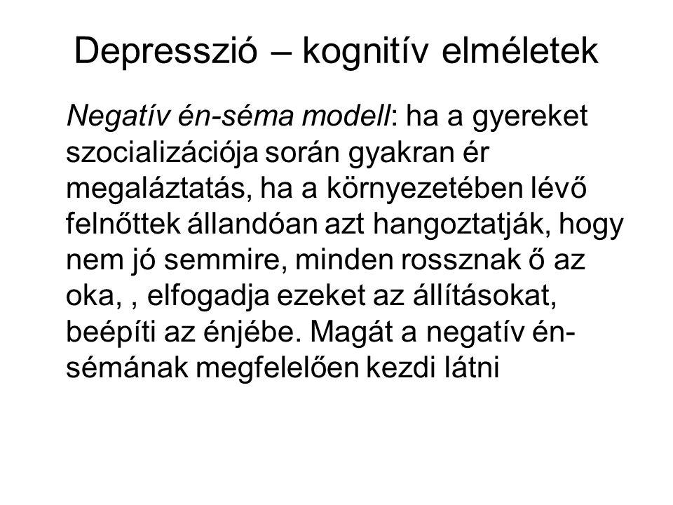 Depresszió – kognitív elméletek