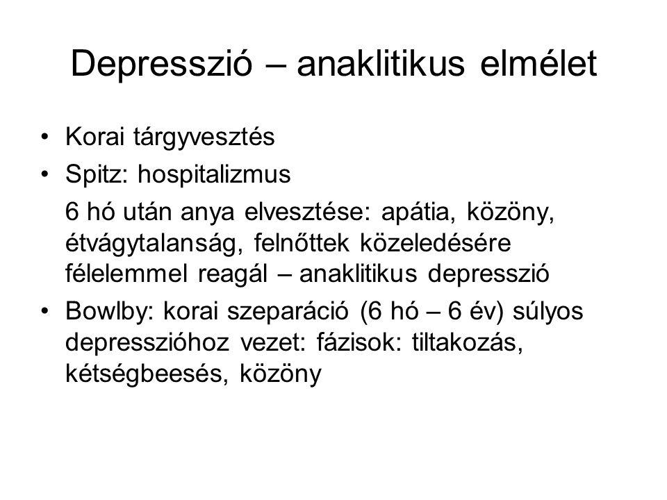Depresszió – anaklitikus elmélet