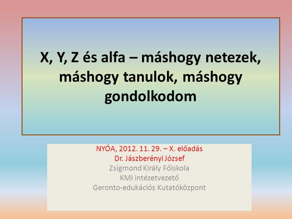 X, Y, Z és alfa – máshogy netezek, máshogy tanulok, máshogy gondolkodom