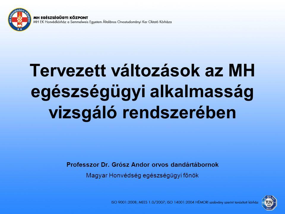 Professzor Dr. Grósz Andor orvos dandártábornok