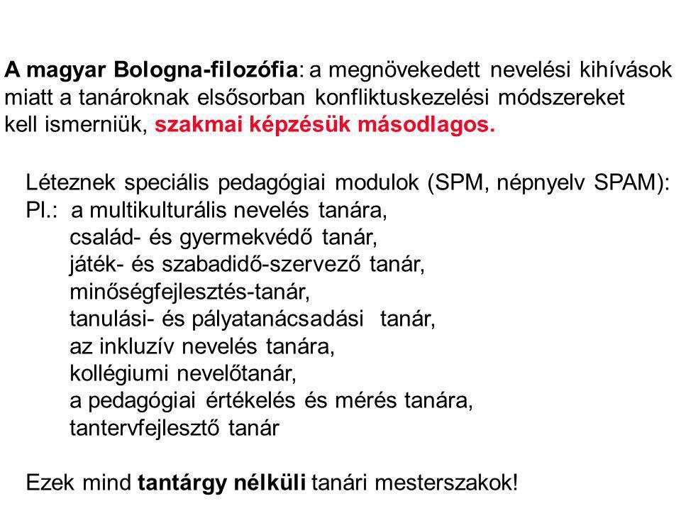 A magyar Bologna-filozófia: a megnövekedett nevelési kihívások