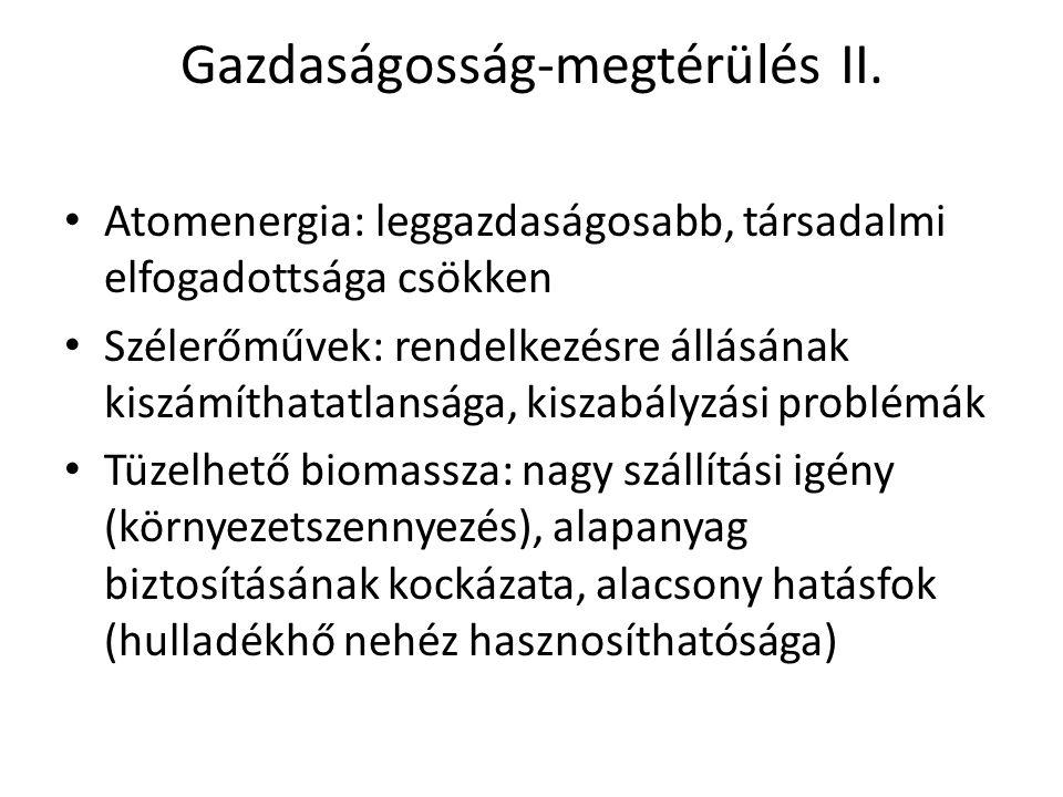 Gazdaságosság-megtérülés II.