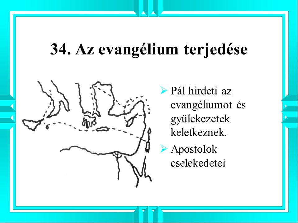 34. Az evangélium terjedése