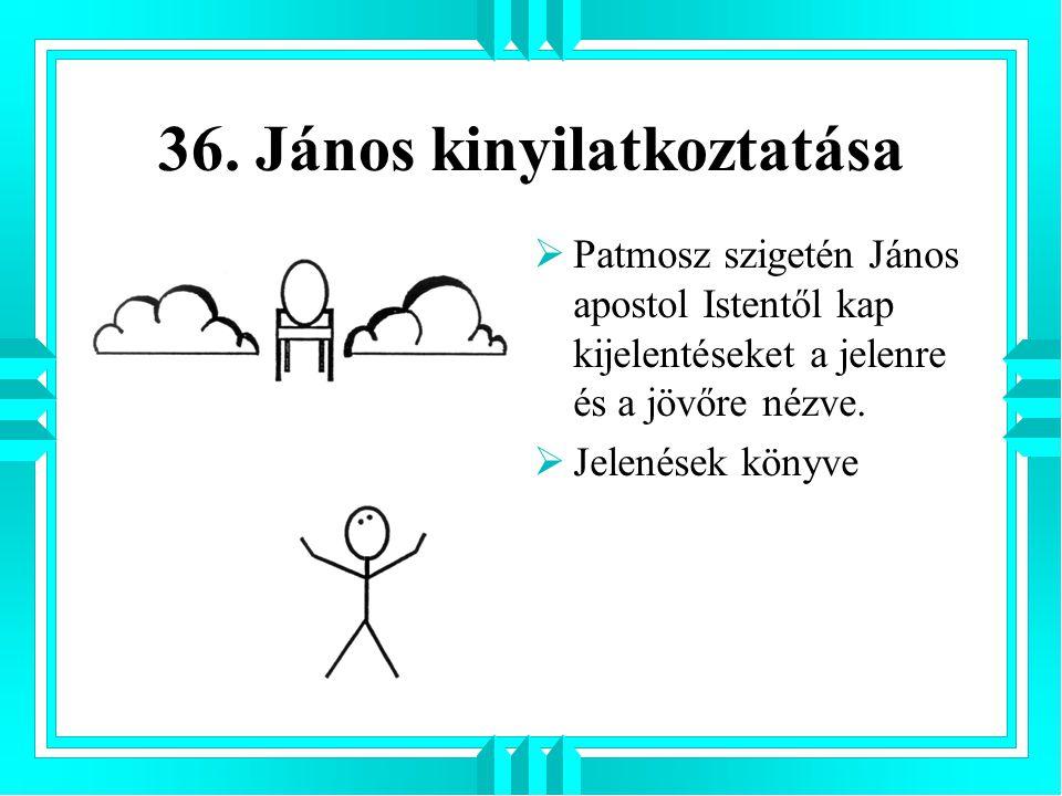 36. János kinyilatkoztatása