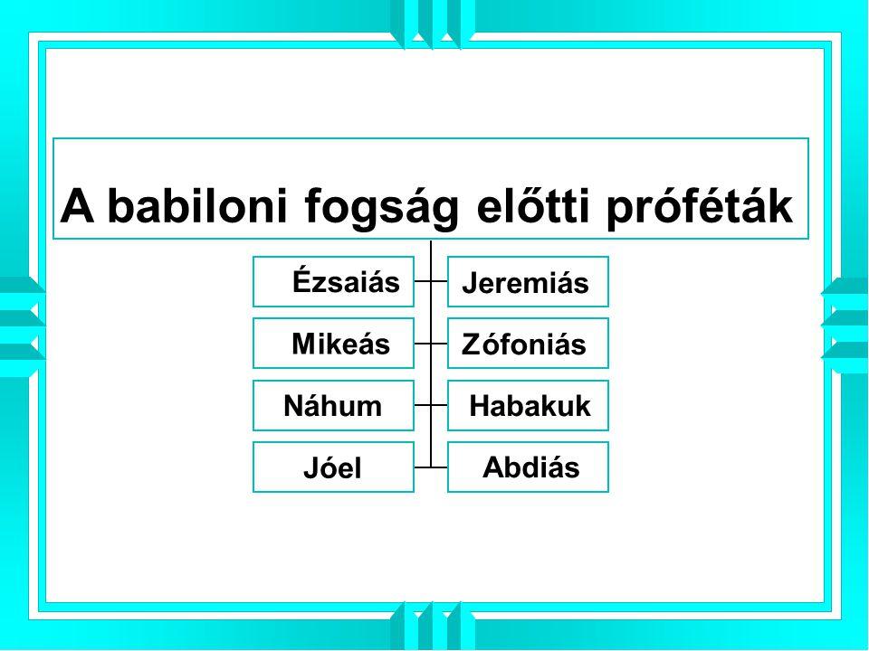 A babiloni fogság előtti próféták