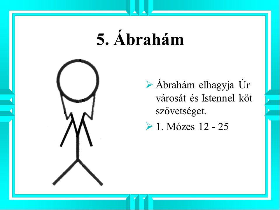 5. Ábrahám Ábrahám elhagyja Úr városát és Istennel köt szövetséget.
