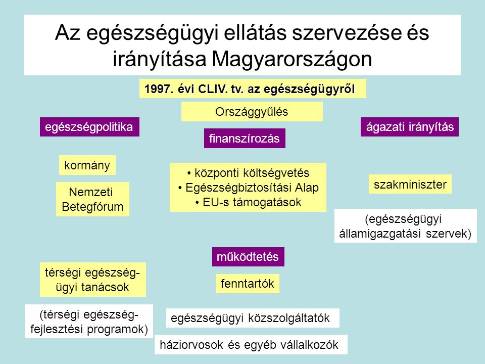 Az egészségügyi ellátás szervezése és irányítása Magyarországon