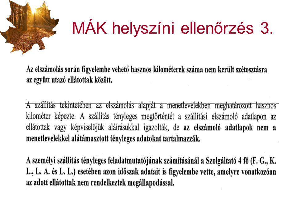MÁK helyszíni ellenőrzés 3.