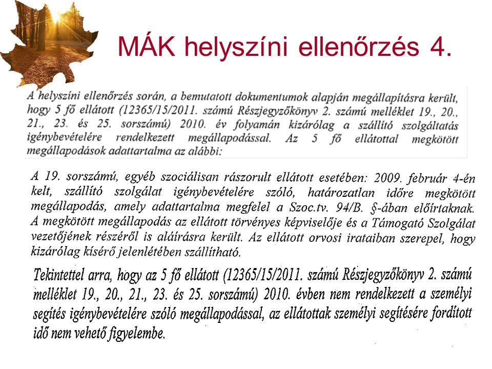 MÁK helyszíni ellenőrzés 4.