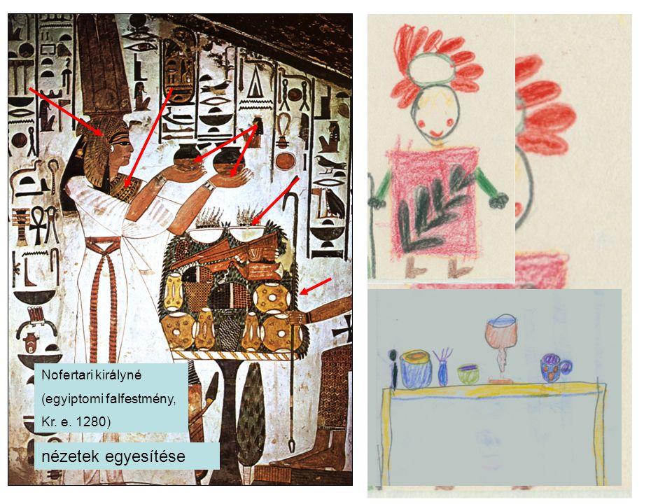 nézetek egyesítése Nofertari királyné (egyiptomi falfestmény,