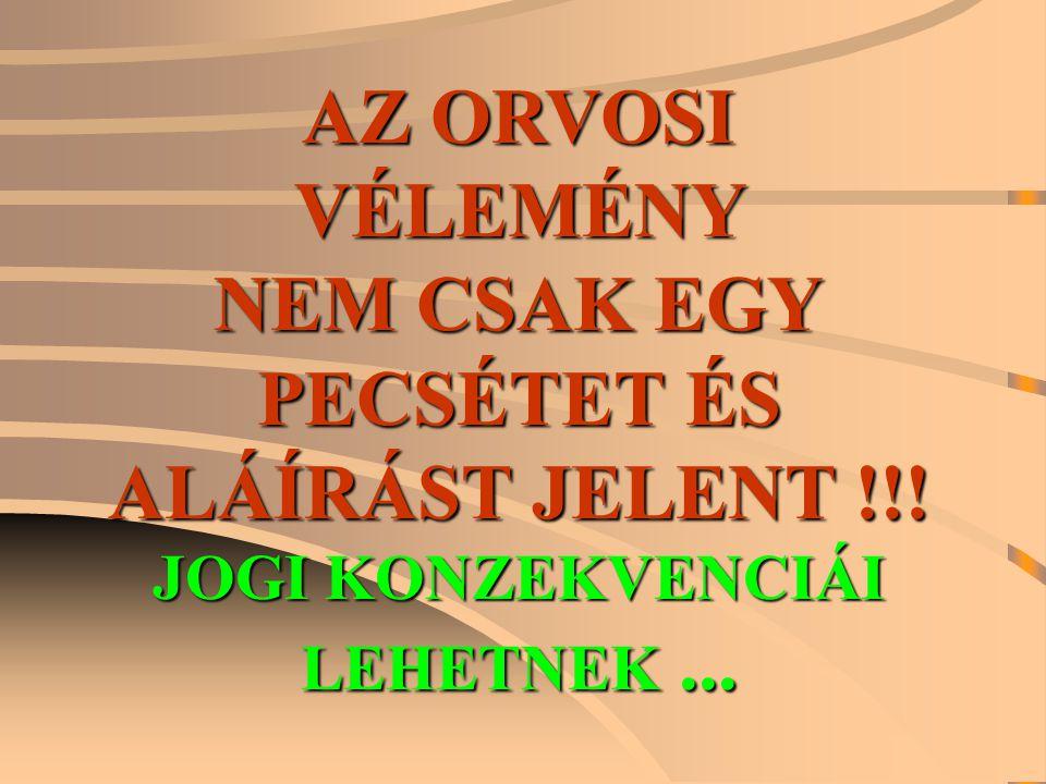 PECSÉTET ÉS ALÁÍRÁST JELENT !!! JOGI KONZEKVENCIÁI LEHETNEK ...