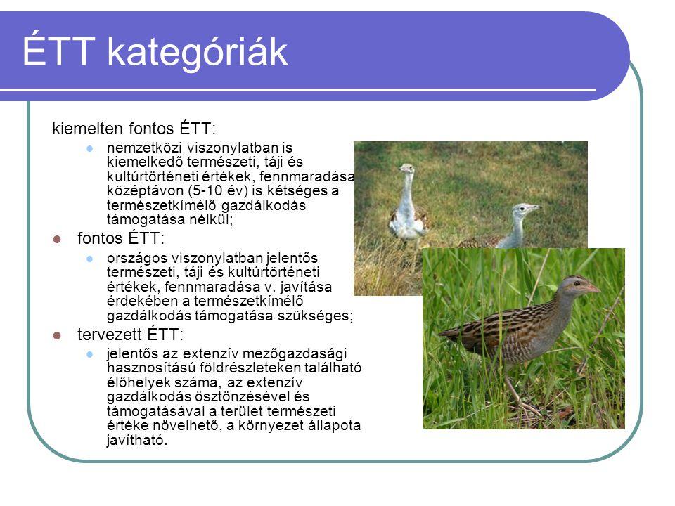 ÉTT kategóriák kiemelten fontos ÉTT: fontos ÉTT: tervezett ÉTT: