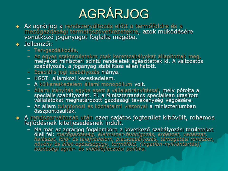 AGRÁRJOG