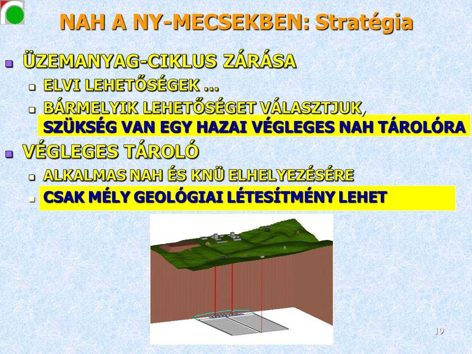 NAH A NY-MECSEKBEN: Stratégia