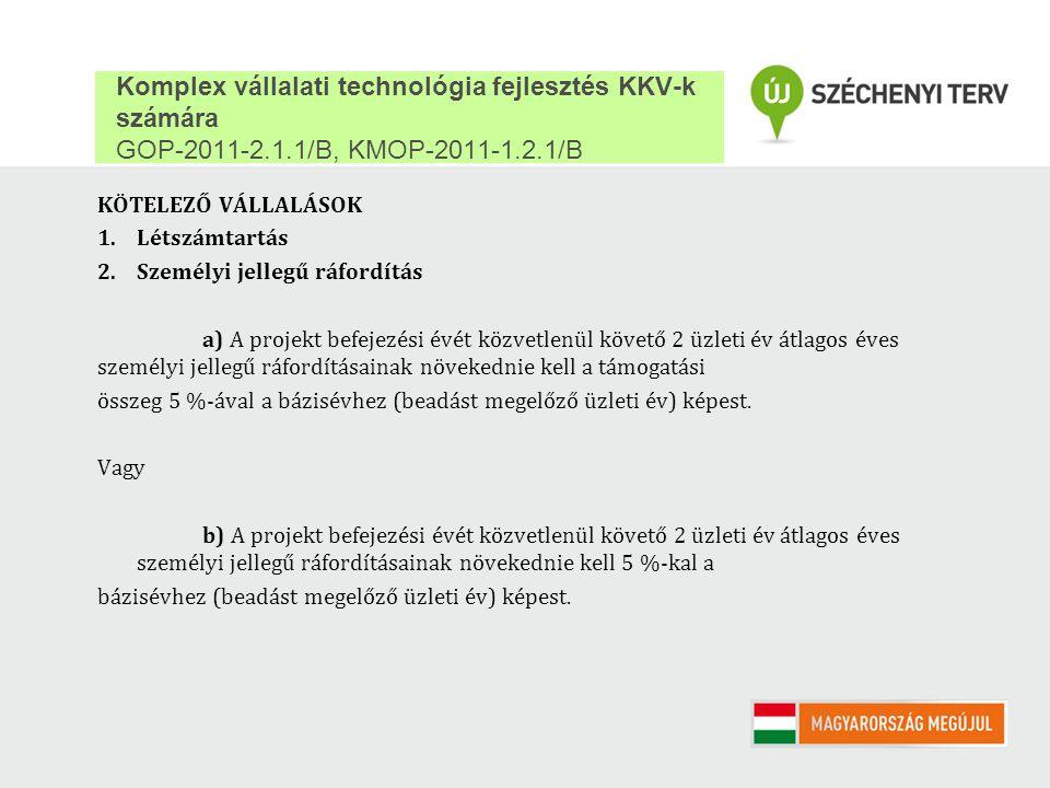 Komplex vállalati technológia fejlesztés KKV-k számára GOP-2011-2. 1