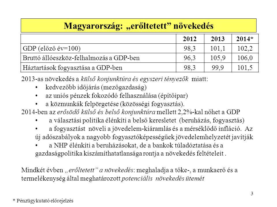 """Magyarország: """"erőltetett növekedés"""