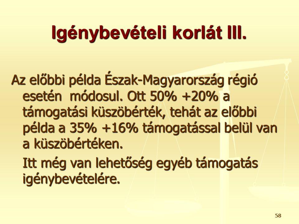 Igénybevételi korlát III.