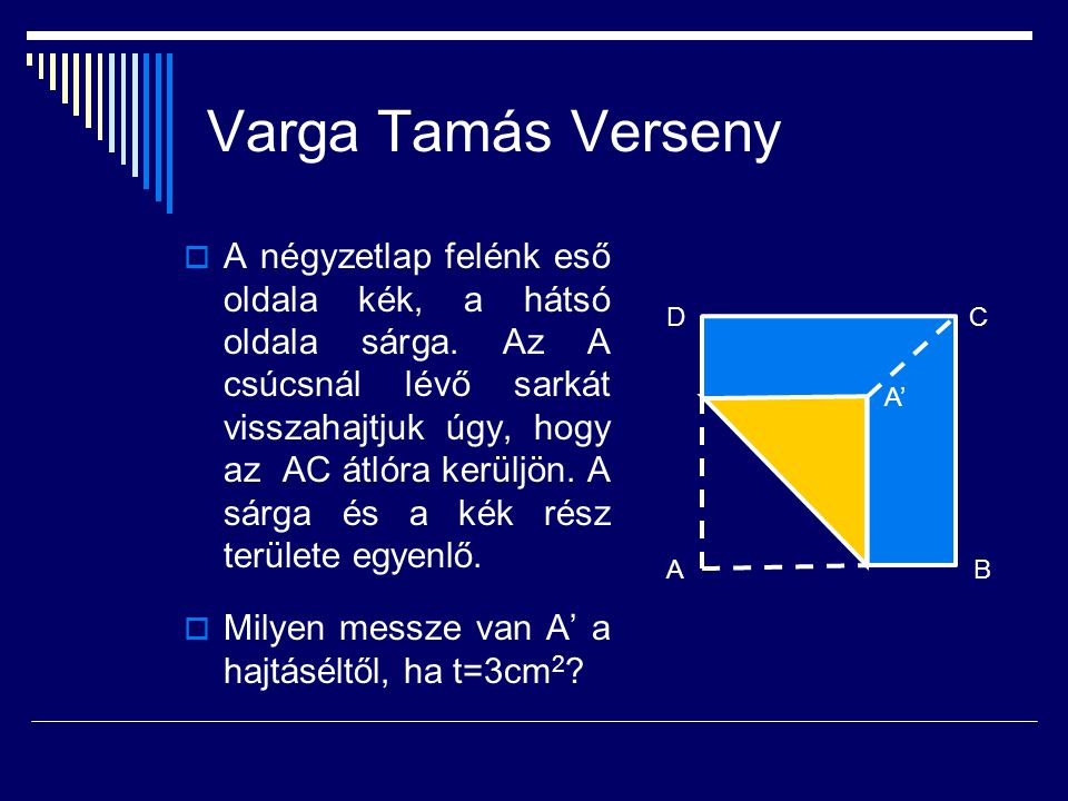 Varga Tamás Verseny