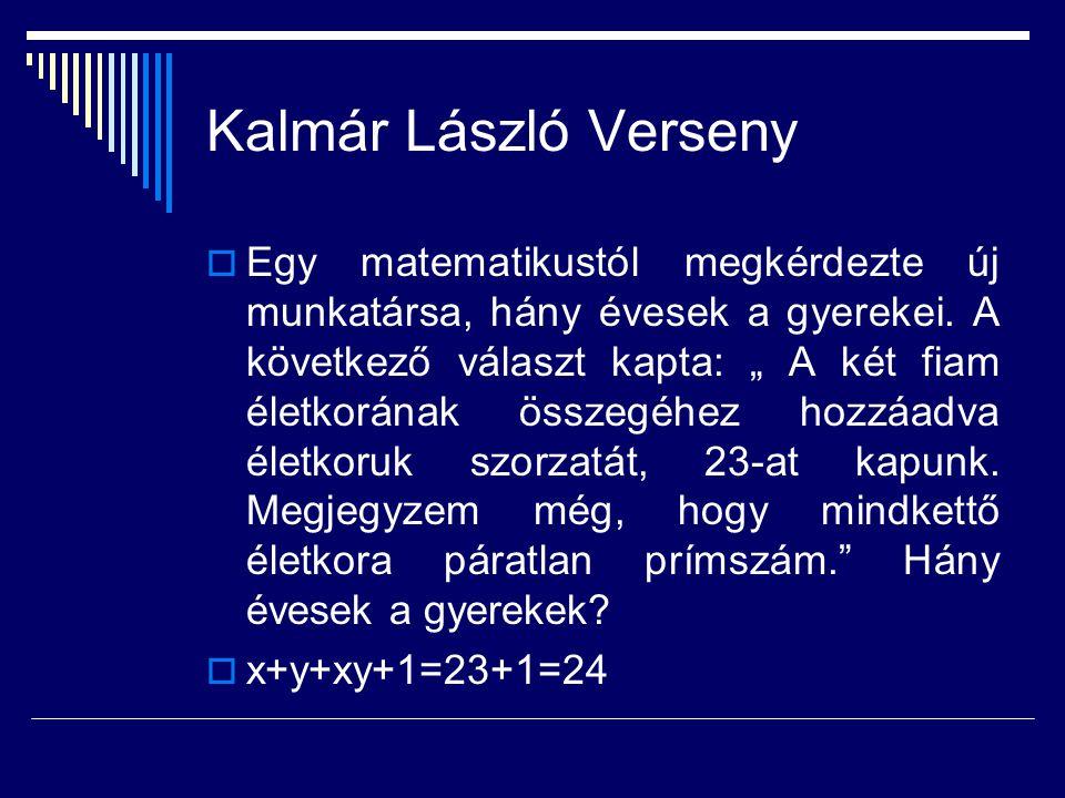 Kalmár László Verseny