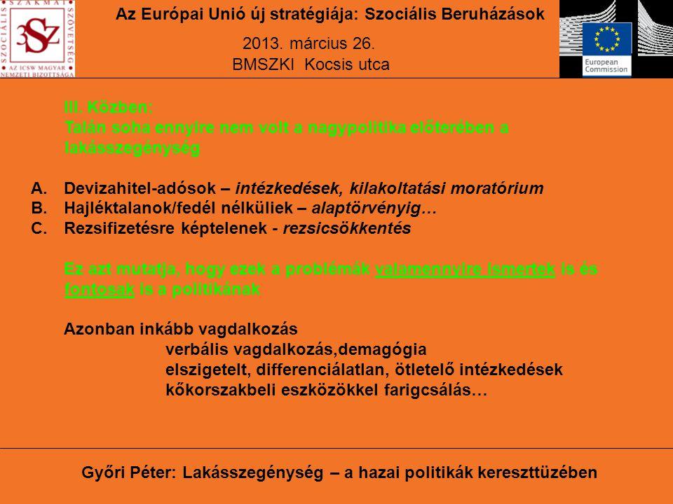 Győri Péter: Lakásszegénység – a hazai politikák kereszttüzében