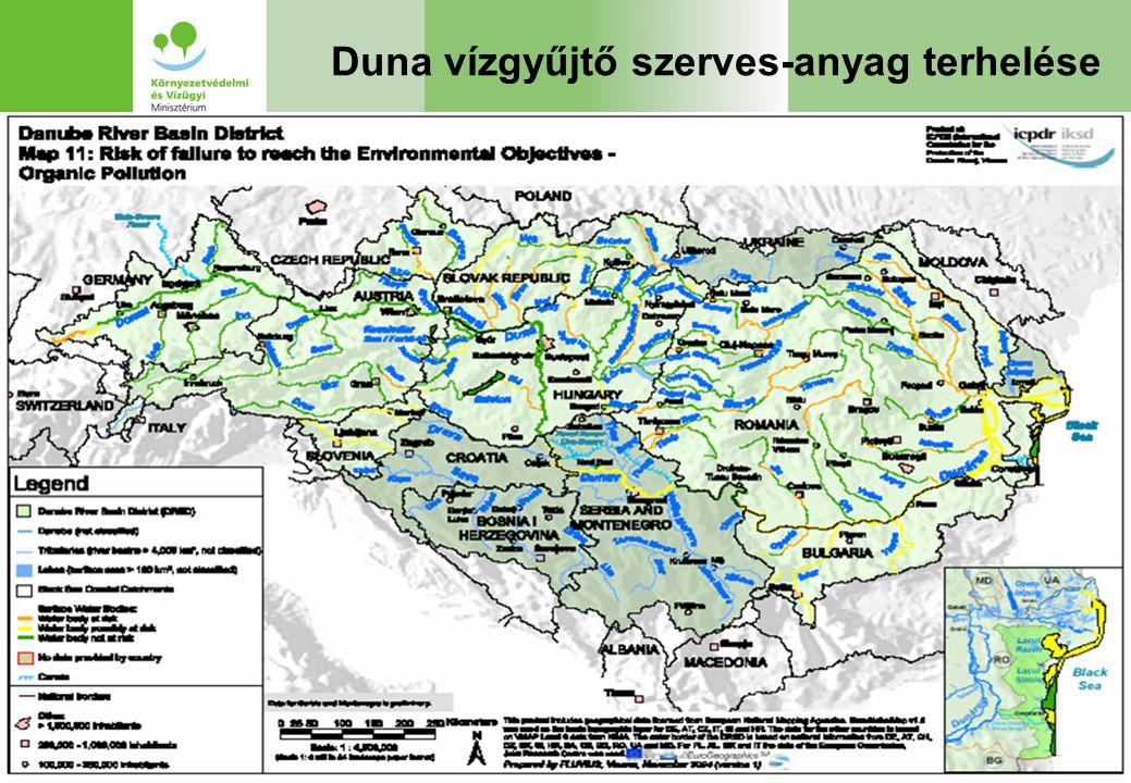 Duna vízgyűjtő szerves-anyag terhelése