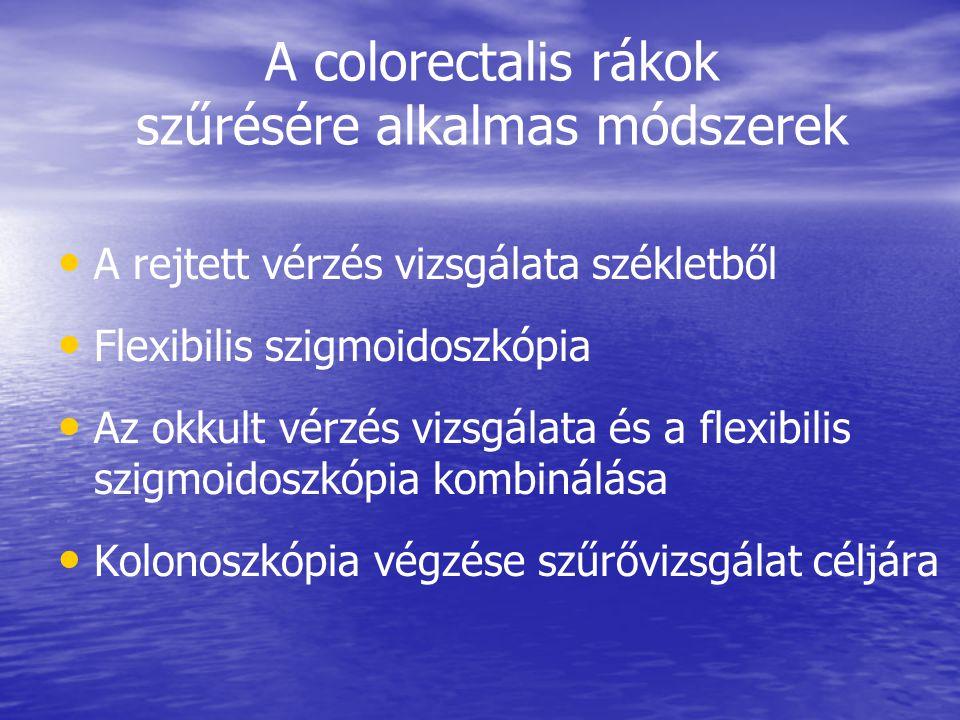 A colorectalis rákok szűrésére alkalmas módszerek