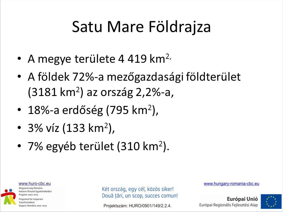 Satu Mare Földrajza A megye területe 4 419 km2,