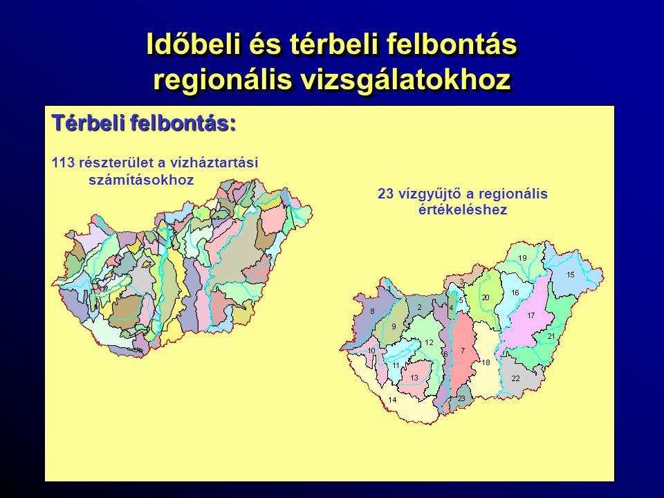 Időbeli és térbeli felbontás regionális vizsgálatokhoz