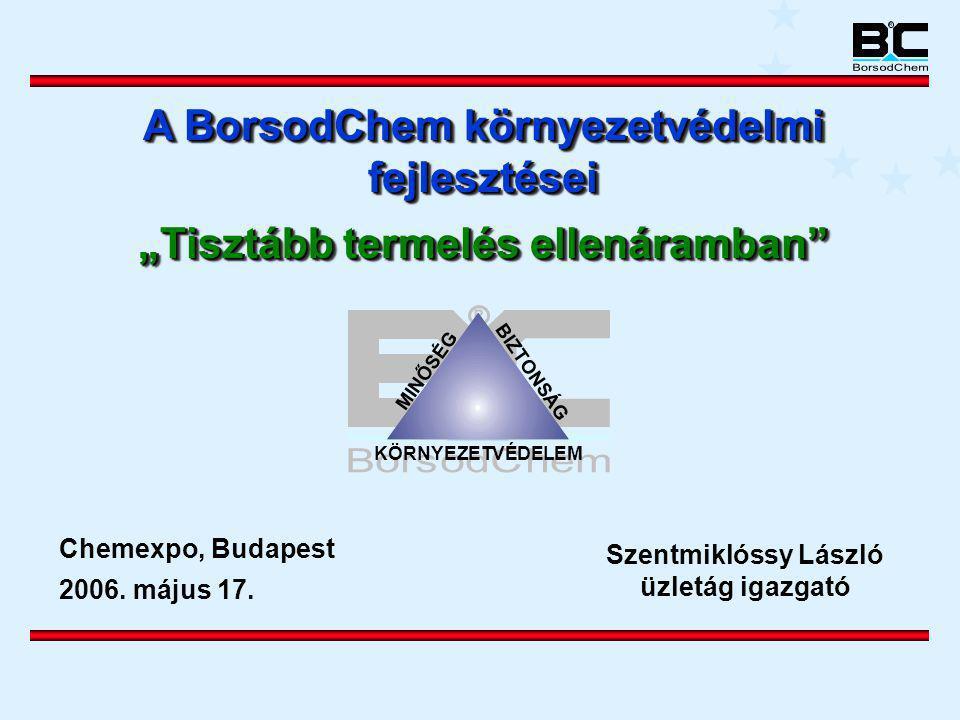 A BorsodChem környezetvédelmi fejlesztései