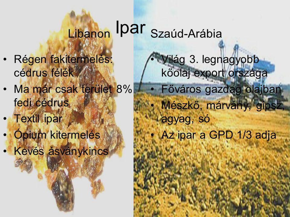 Libanon Ipar Szaúd-Arábia