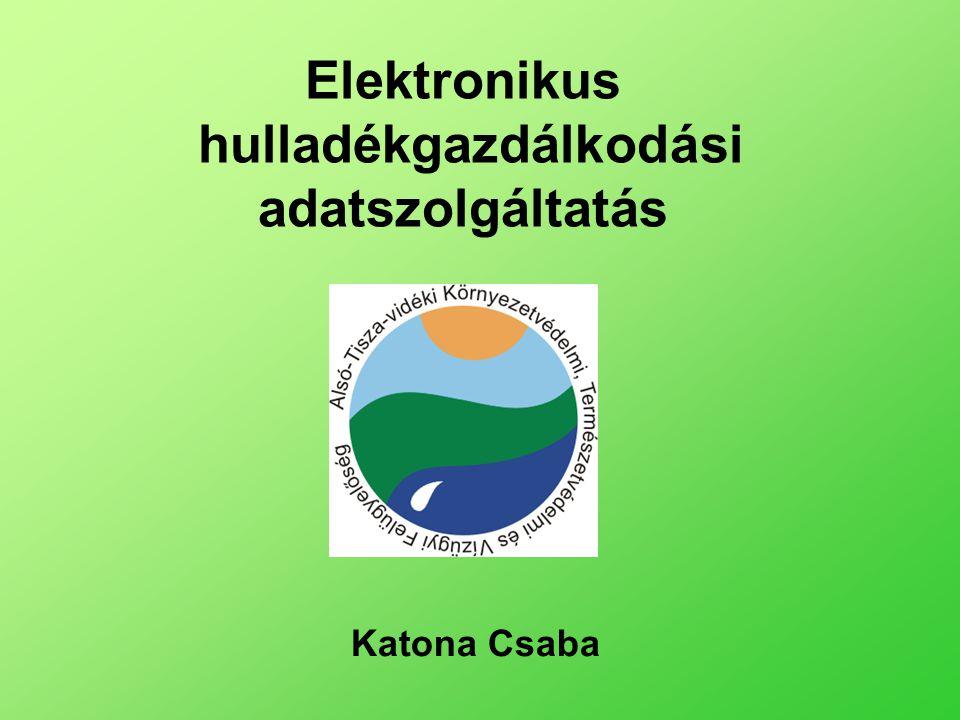Elektronikus hulladékgazdálkodási adatszolgáltatás