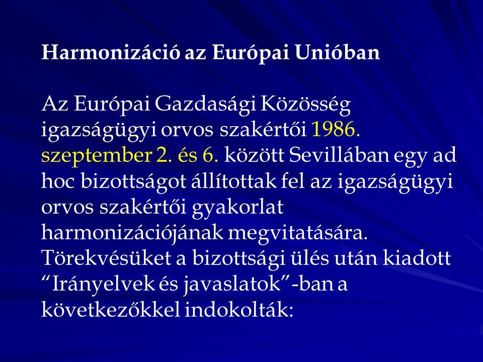 Harmonizáció az Európai Unióban