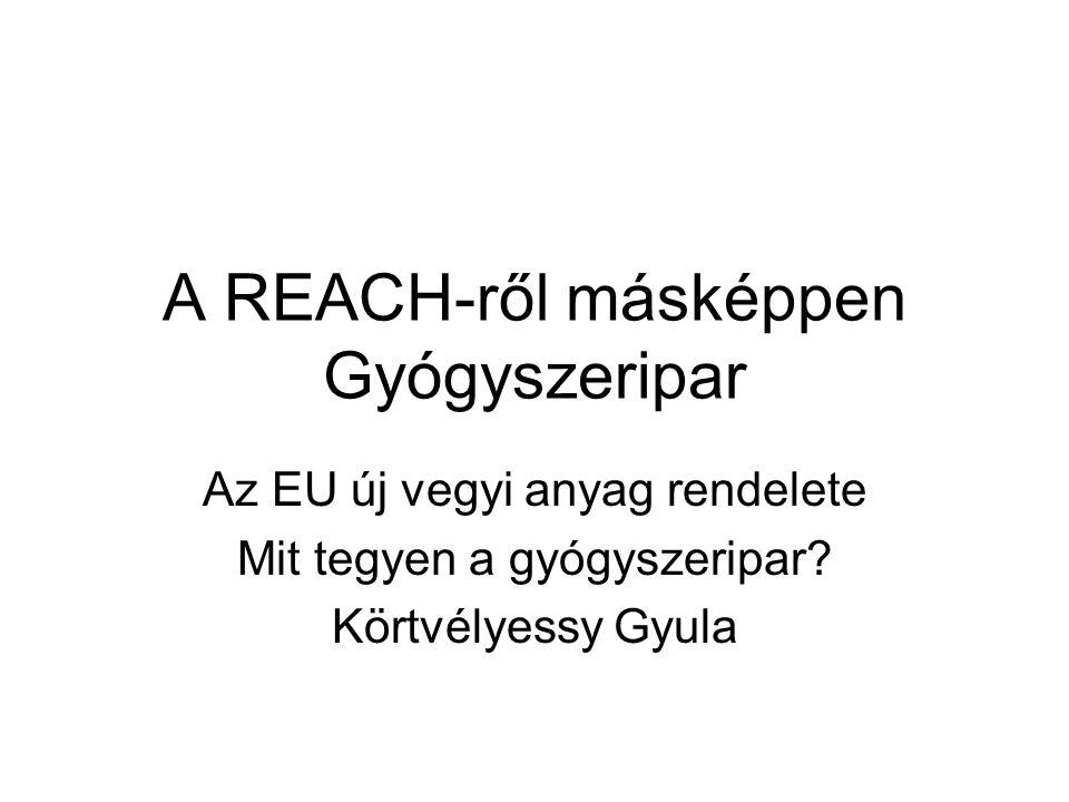 A REACH-ről másképpen Gyógyszeripar