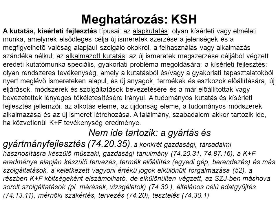Meghatározás: KSH