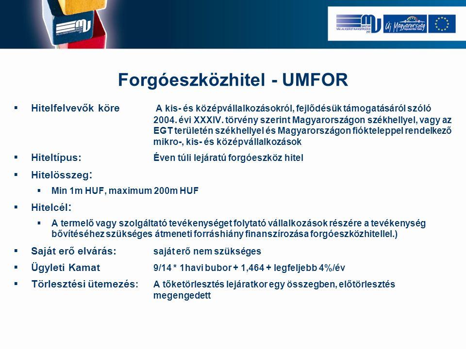 Forgóeszközhitel - UMFOR