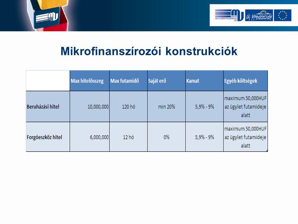 Mikrofinanszírozói konstrukciók