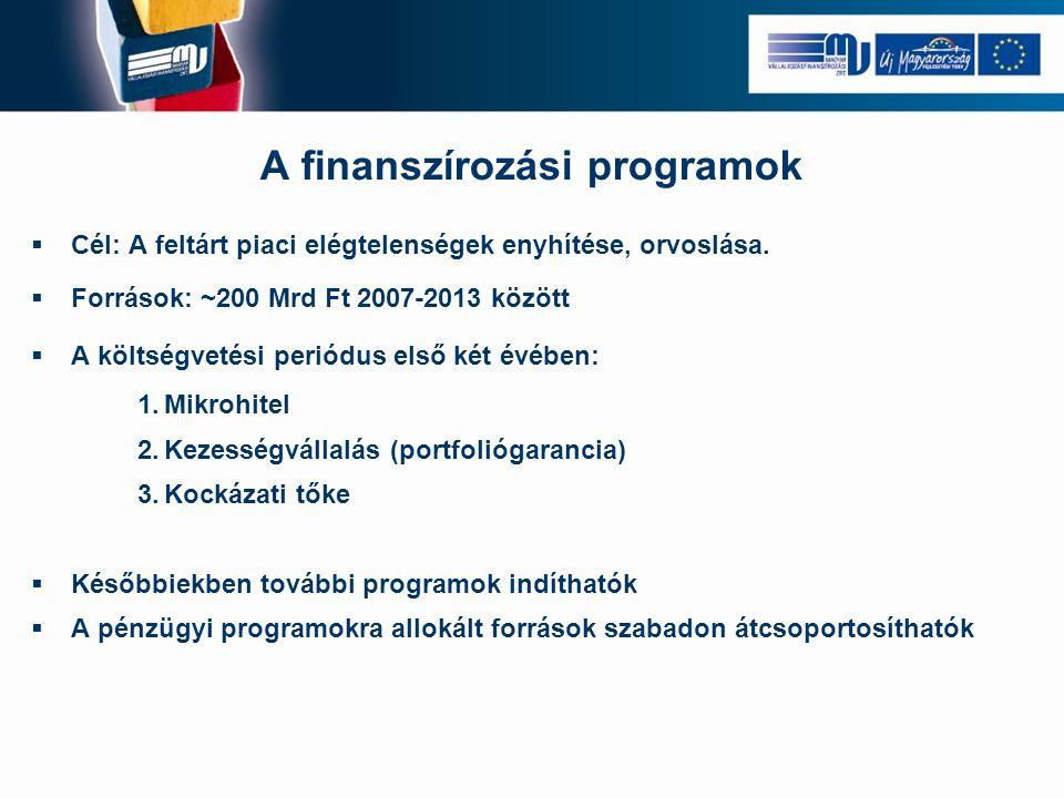 A finanszírozási programok