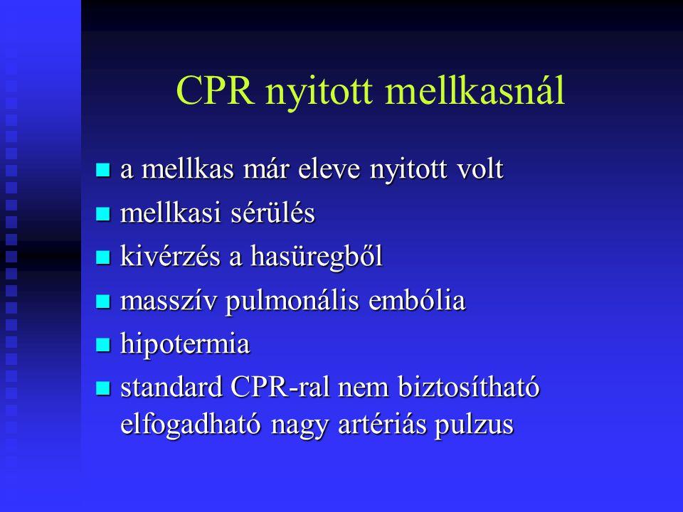 CPR nyitott mellkasnál