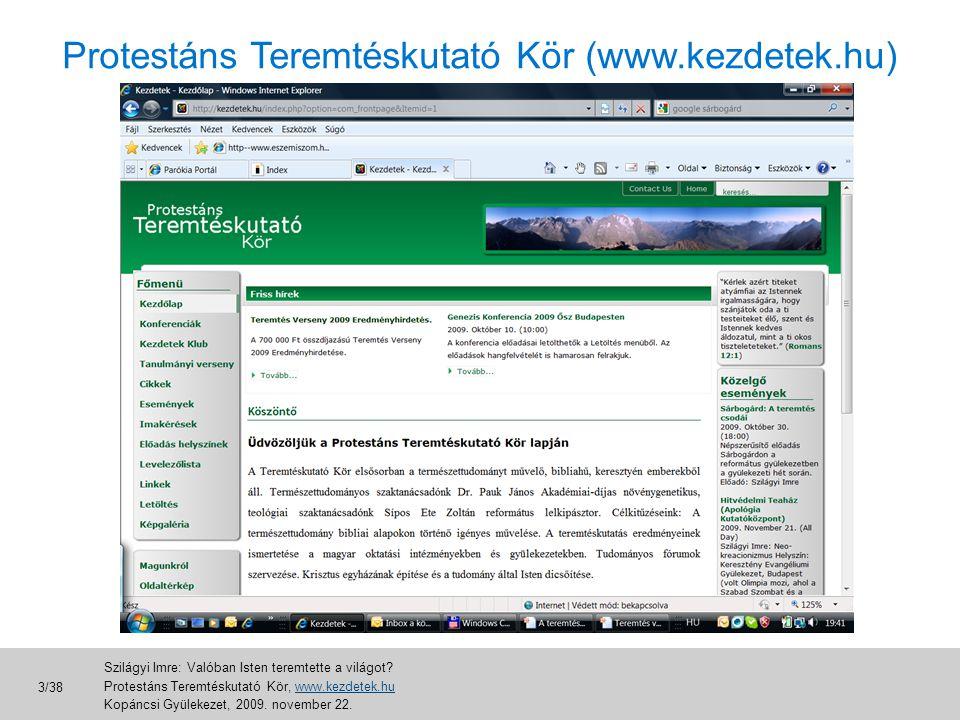 Protestáns Teremtéskutató Kör (www.kezdetek.hu)